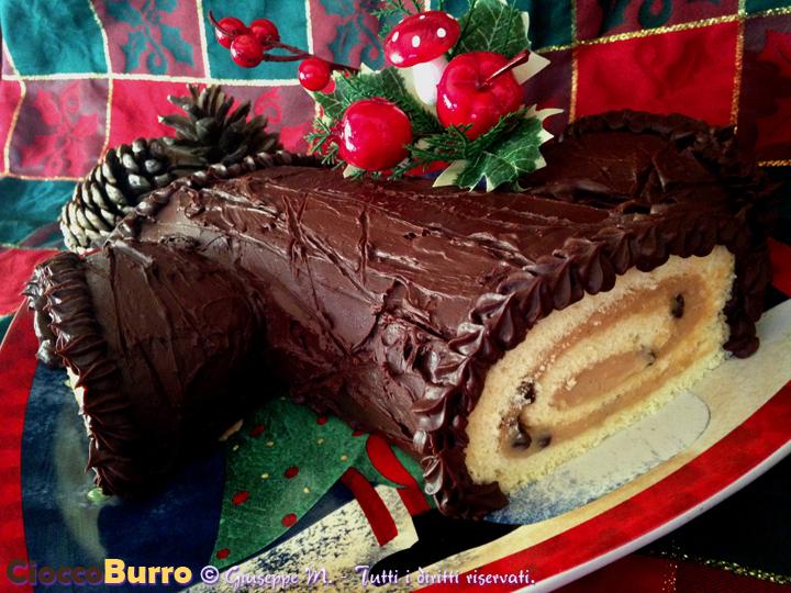 Tronchetto Di Natale Leggero.Tronchetto Di Natale Cioccoburro